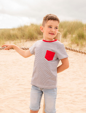 Oliver Boys Short Sleeve T-Shirt - Eclipse Stripe