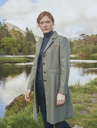 Blackthorn Ladies 3/4 Tweed Coat- Rowan