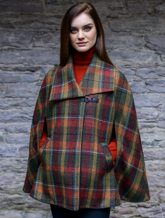 Mucros Kenmare Cape - Autumn Plaid