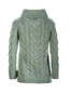 Luxury Chunky Cable Cowl Neck Aran Sweater - Back