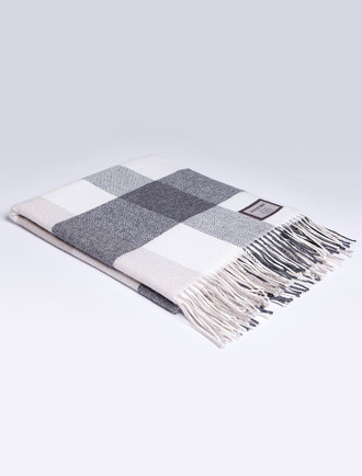 Lambswool Throw - Classic Block Twill