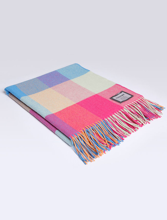 Lambswool Throw - Bright Check