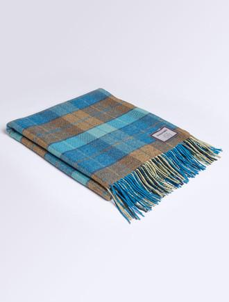 Lambswool Throw - Peacock Tartan