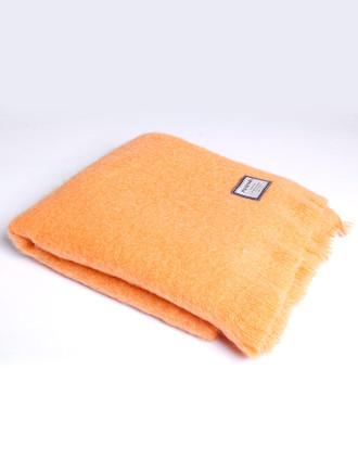 Mohair Throw - Orange