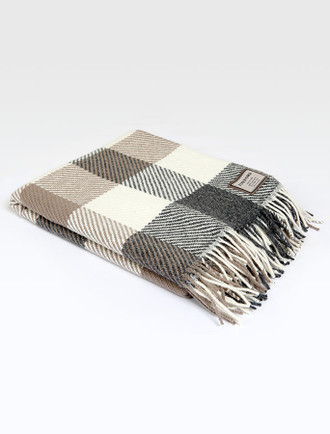 Merino Throw - Classic Check