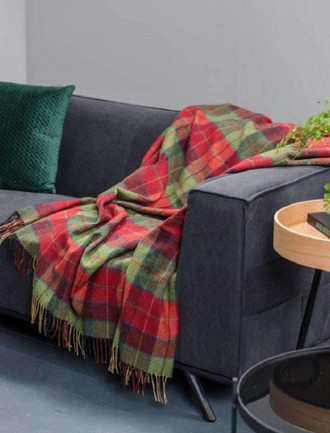 Lambswool Throw - Wicklow Tartan