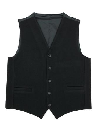 Aran Island Melton Waistcoat - Black