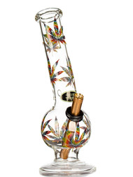 Bent Bubble 28cm - Tie Dye Leaf  bong