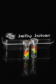 Jelly Joker Glass Tips 2 Pack Rasta - Flat