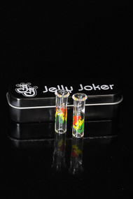 Jelly Joker Glass Tips 2 Pack Rasta - Round and Flat