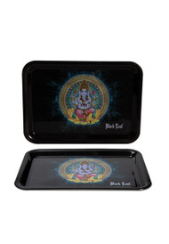 Black Leaf Mini Rolling Tray - Ganesha