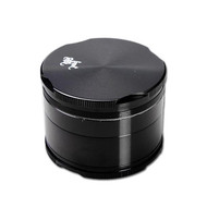 Black Leaf Edge Aluminium Grinder 55mm - 4 part