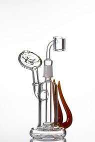 Blaze Glass Horned 'Oil Rig - Quartz.
