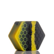 Beehive Silicone Container - Black and Yellow