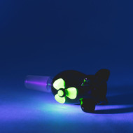 Empire Glass Cone 14.5mm Radioactive Bomb - UV view