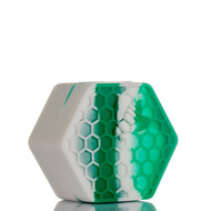 Beehive Silicone Container - Teal and White