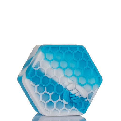 Beehive Silicone Container - Blue and White.