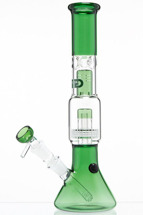 Grace Glass Drum Perc Beaker - Green