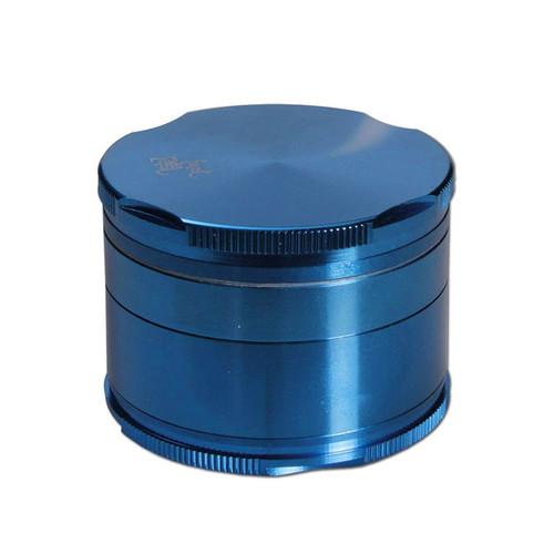 Black Leaf Edge Aluminium Grinder 55mm - 4 part Blue