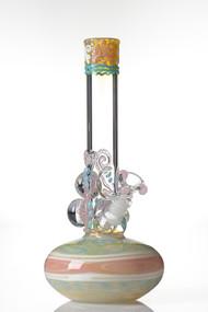 HVY Mini Worked Bubble Beaker Pastel