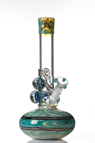 HVY Mini Worked Bubble Beaker Aqua