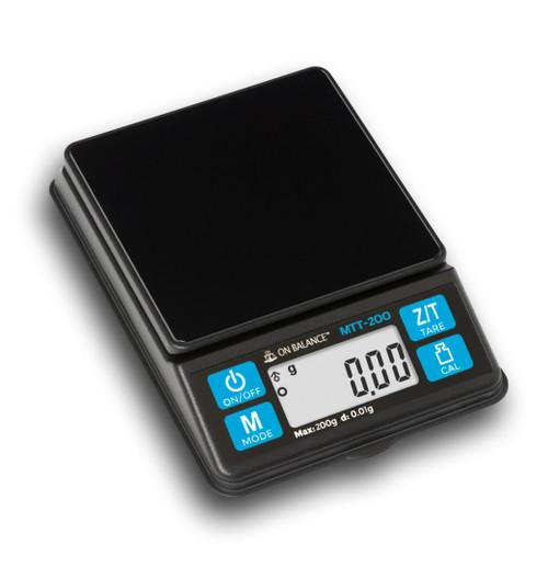 On Balance MTT-200 Black Mini Table Top Scales 200g X 0.01g