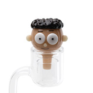 Empire Glass Bubble Carb Cap - Mort. *Example of use*