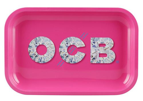 OCB Rolling Tray Medium - Pink Diamonds.