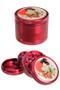 Black Leaf 'Ronin and Geisha' Beaker Set - aluminium grinder detail.