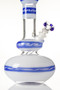 HVY Mini Wave Genie Bottle White/Blue - base view.