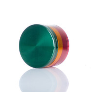 SPLIFF Rasta Aluminium Grinder 50mm - 4 part