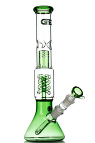 Grace Glass Green Spiral Perc Beaker 2nd