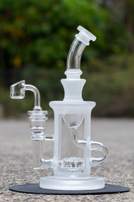Black Leaf Frosted Recycler Quartz - outside.