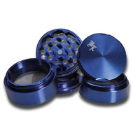 Black Leaf Edge Aluminium Grinder 50mm Blue 5 part - detail.