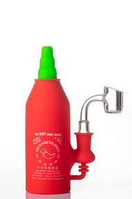 Silicone Dab Rig Hot Sauce - side view.