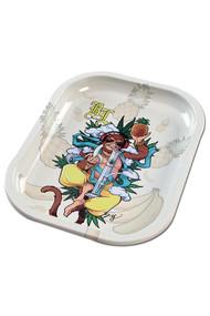 Black Leaf Mini Rolling Tray - Hanuman.