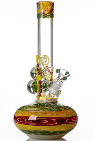HVY Mini Worked Bubble Beaker Rasta.