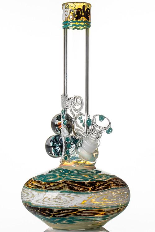 HVY Mini Worked Bubble Beaker - Aqua.