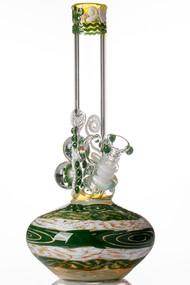 HVY Mini Worked Bubble Beaker - Green.