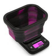 On Balance SBM-100 Pink/Black Mini Silicone Bowl Scales 100g x 0.01g.