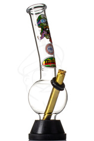 MWP Glass Bong 25cm - Screaming Skull.