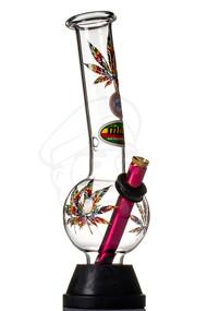 MWP Glass Bong 25cm - Coloured Leaves.