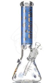 Blaze Glass Golden Beaker 7mm - Blue.