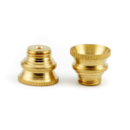 Medium Screw in Brass Cone
