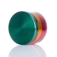SPLIFF Rasta Aluminium Grinder 63mm - 4 part