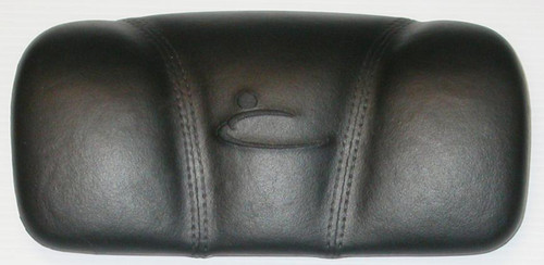 12810 Dynasty Head rest/pillow, small black, stitched, may have 1868 on back.