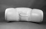14710, Pillow, Neck, Ultra Light Gray, Stitched