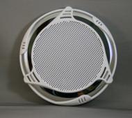 """14642-Stereo, Speaker Cover, 2011, Custom, SS, White, 6"""" Speaker"""