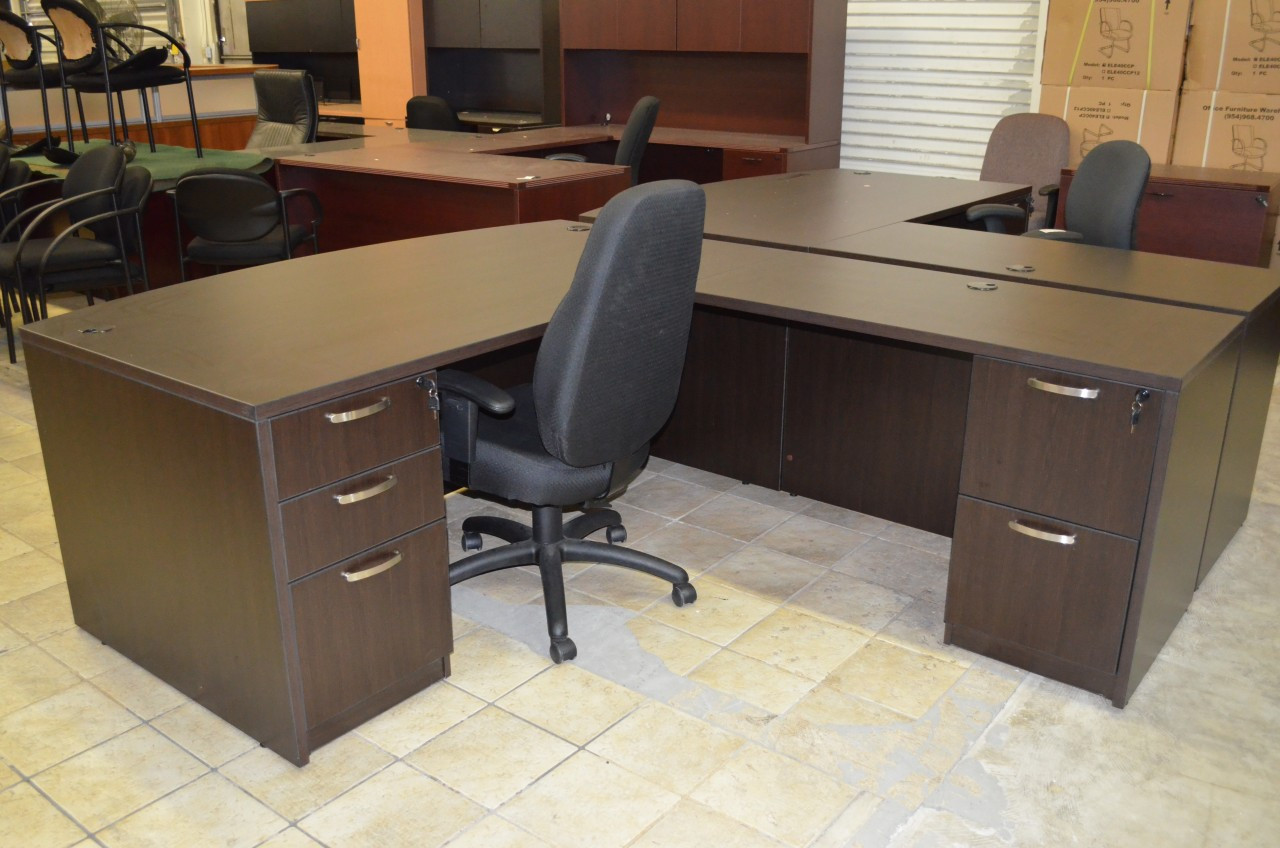 Outstanding Espresso L Shape Desk Office Furniture Warehouse Home Interior And Landscaping Ologienasavecom