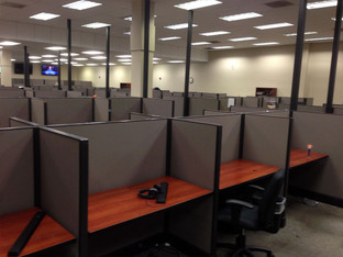 "Friant Systems 2 - 4'x2'x52"" Telemarketing Workstations"